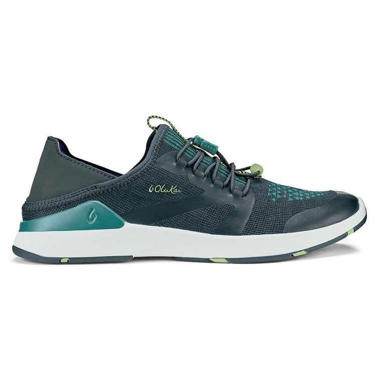 Women's OluKai Miki Trainer Athletic Shoes - Iron/Mineral Blue