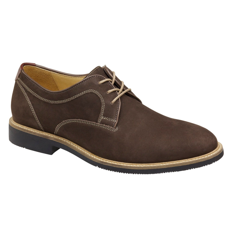 Men's Johnston & Murphy Barlow Plain Toe - Chocolate
