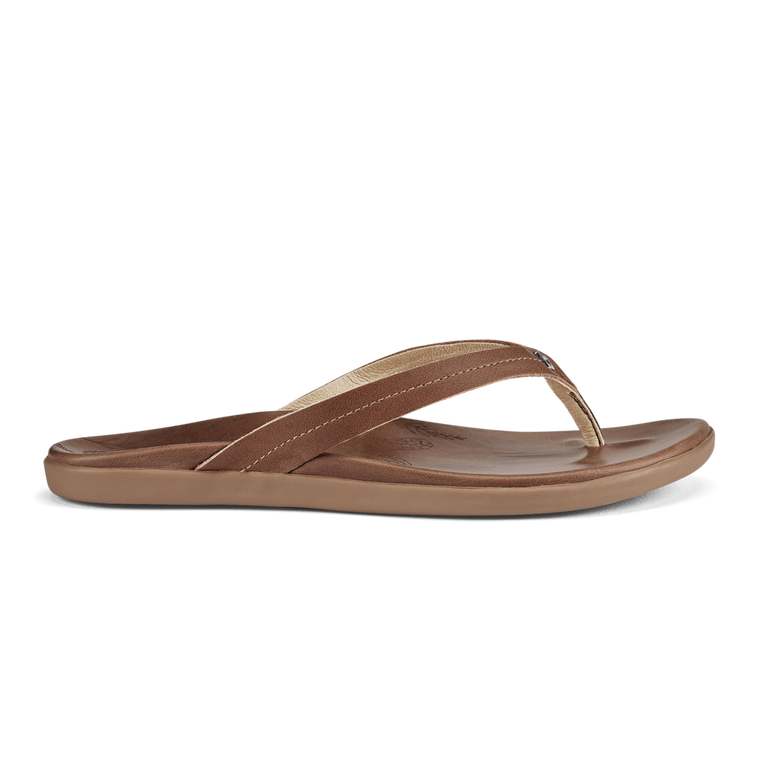 Olukai Honu Women's Leather Sandals - Tan