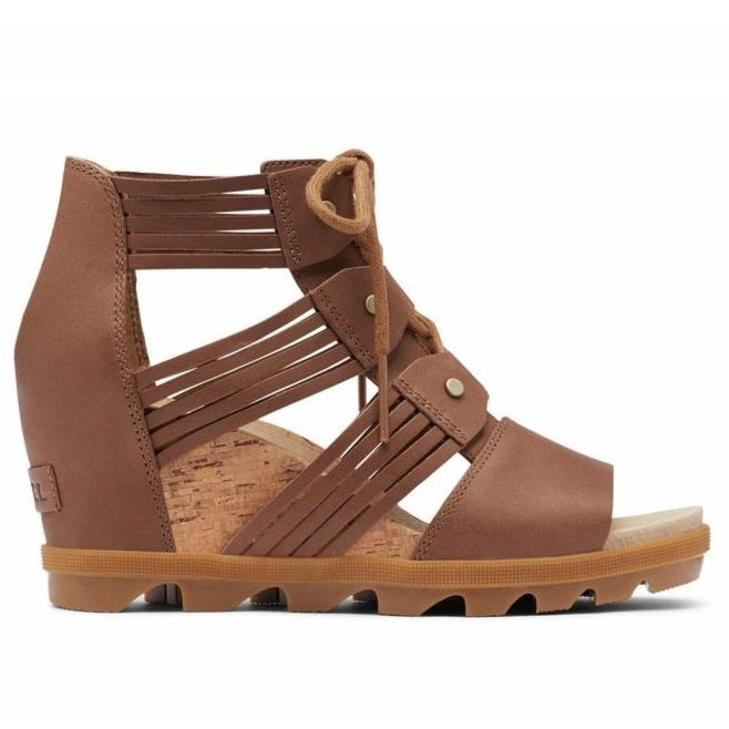 Sorel Women's Joanie II Lace Huarache Wedge Sandal - Velvet Tan