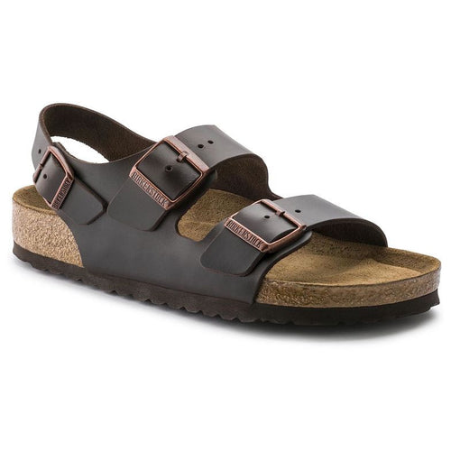 Unisex Milano Soft Footbed Sandal - Amalfi Brown Leather