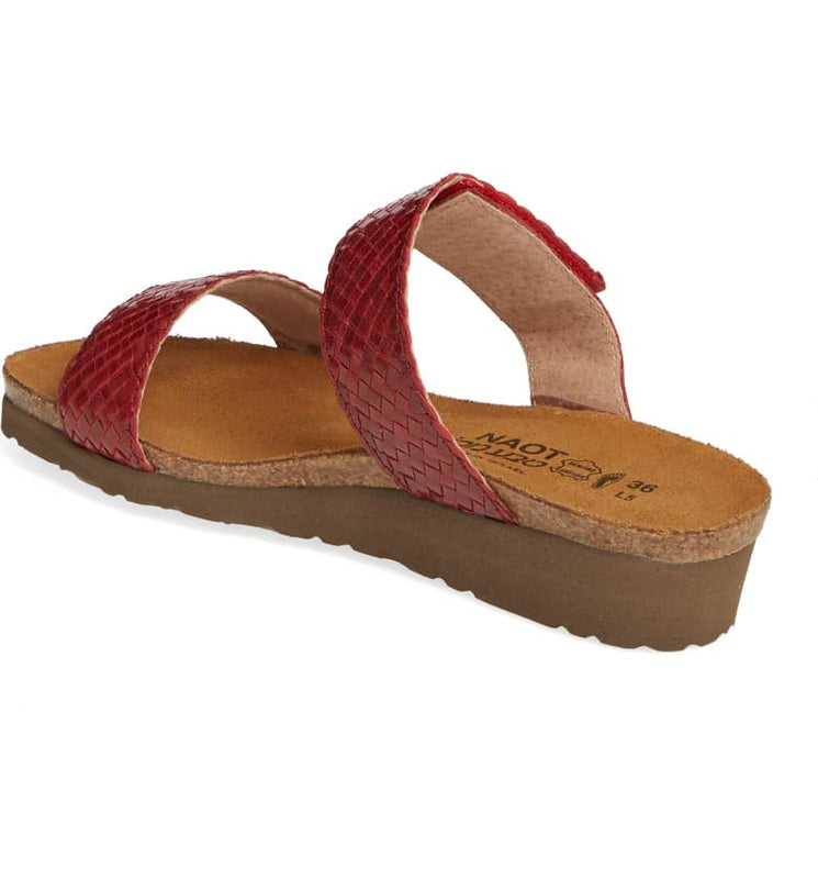 Women's Naot Blake - Red/Brick Red Braid