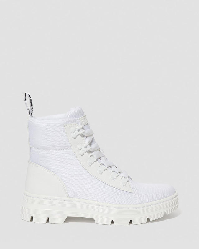 Dr. Martens Women's Combs Poly Casual Boots - White Ajax