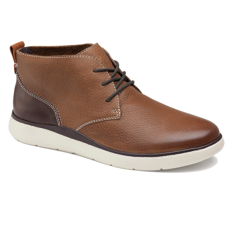 Men's Johnston & Murphy Farley Chukka Boot - Tan Full Grain