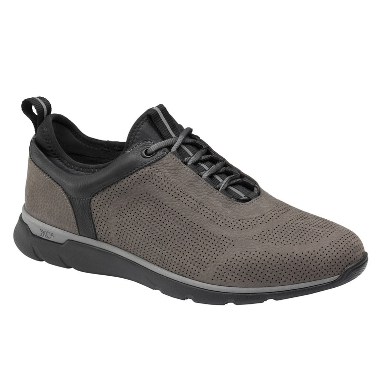 Men's Johnston & Murhpy XC4 Prentiss U-Throat - Charcoal Oiled Nubuck