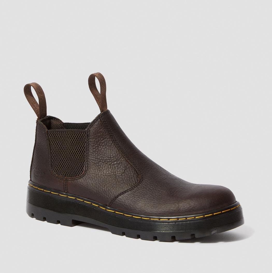 Dr. Martens Men's Hardie Bear Track Chelsea Boots - Tan