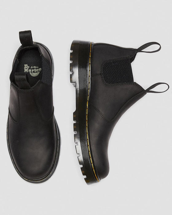 Dr. Martens Men's Hardie Connection Leather Chelsea Work Boots - Black