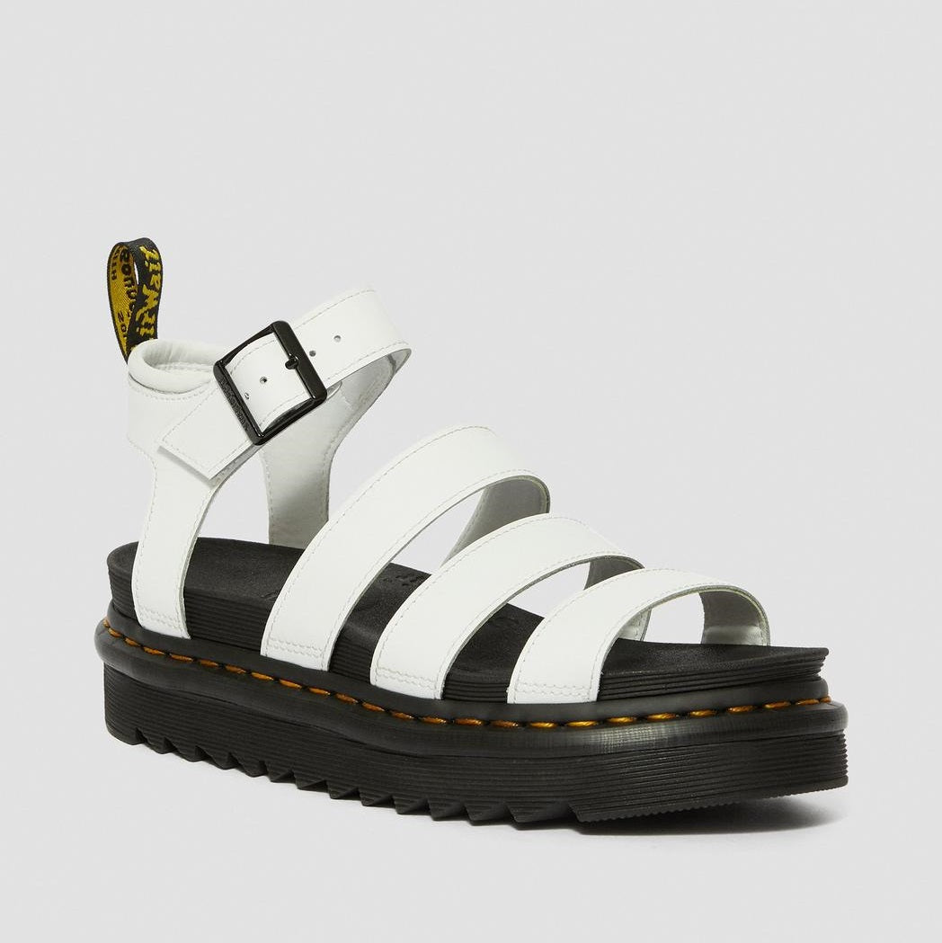 Dr. Martens Women's Blaire Hydro Leather Gladiator Sandals - White Hydro Leather