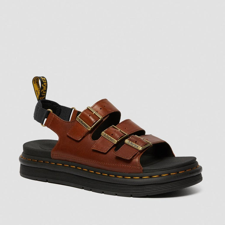 Dr. Martens Men's Soloman Leather Strap Sandals - Tan Luxor