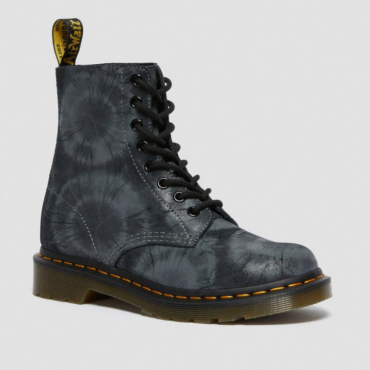 Dr. Martens Women's 1460 Pascal Lace Up Boots - Charcoal Grey Tie Dye Suede