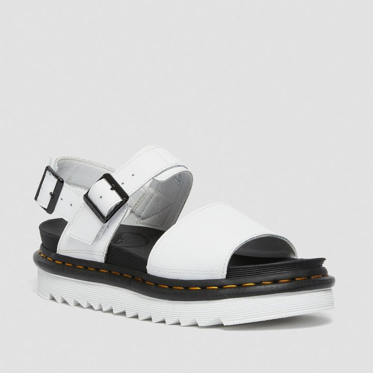 Dr. Martens Women's Voss Leather Strap Sandals - White Hydro