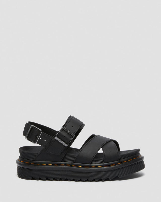Dr. Martens Women's Voss II Leather Strap Sandals - Black Hydro