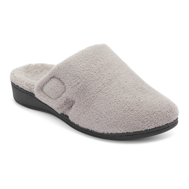 Vionic Women's Gemma Mule Slippers - Light Grey