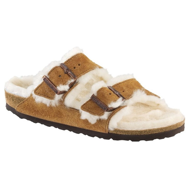 Women's Birkenstock Arizona Suede Shearling Sandals