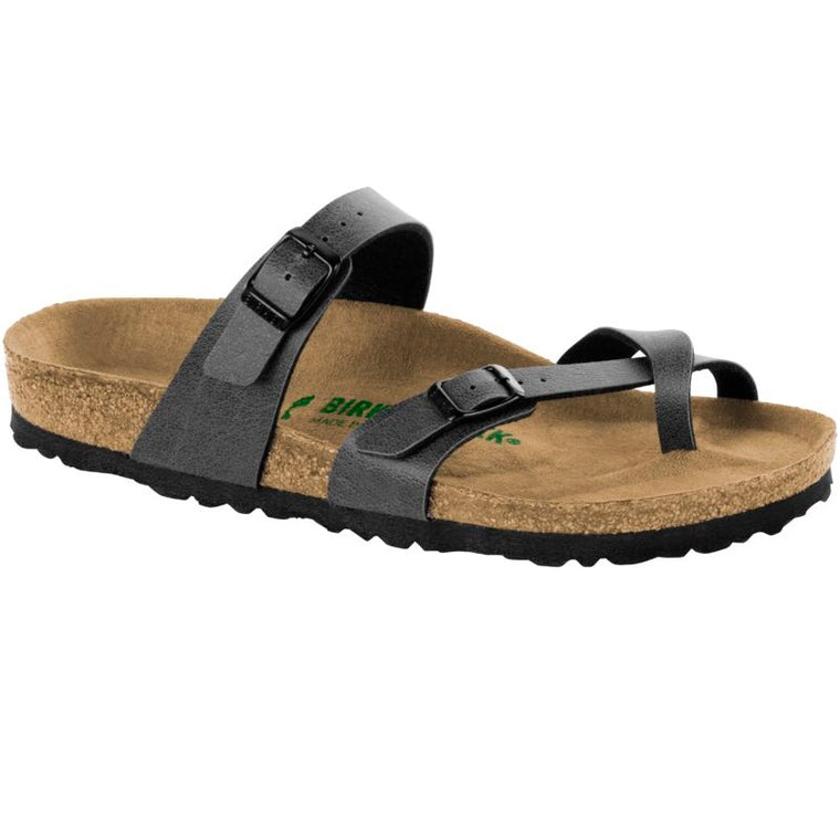 Women's Birkenstock Mayari Vegan Anthracite Slide Sandals