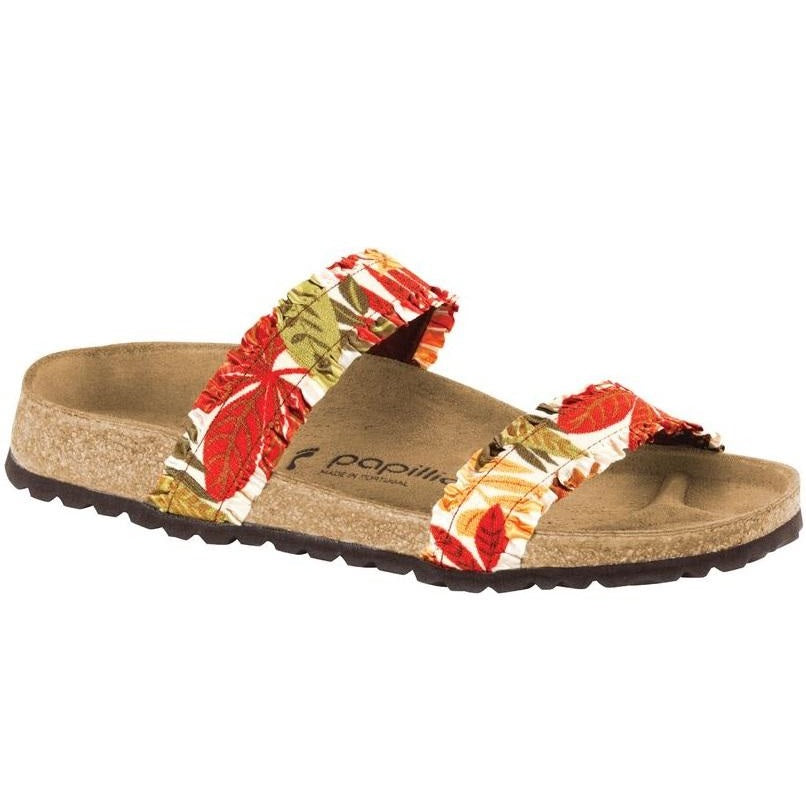 Women's Papillio Curacao Textile Slides - Flower Frill Brown