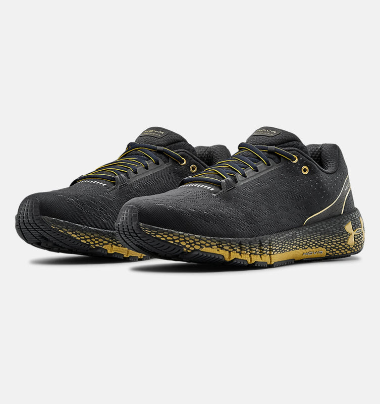 Under Armour Men's UA HOVR Machina Running Shoes - Blackout Purple/Metallic Gold Luster