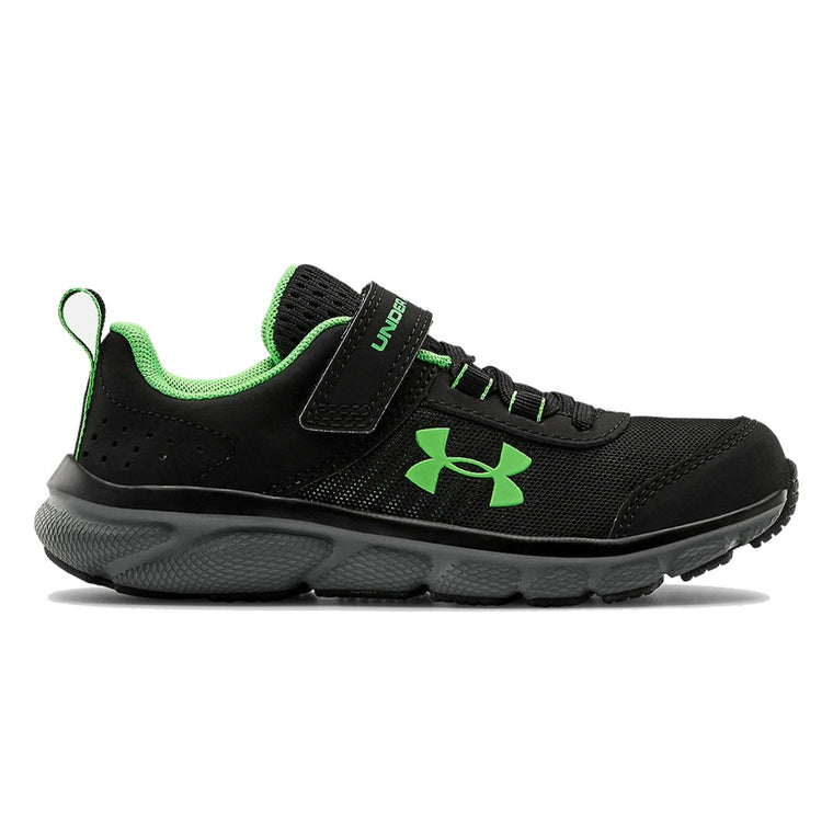Under Armour Boys Pre-School UA Assert 8 AC Running Shoes Running Shoes - Black/Pitch Gray/Laser Green
