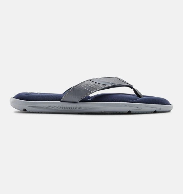 Under Armour Men's UA Ignite III Thong Sandal - Steel/Blue Ink