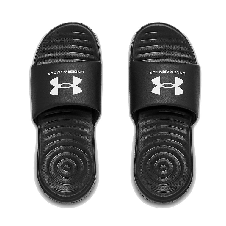 Under Armour Women's UA Ansa Fix SL Slide Sandal - Black/Black/White