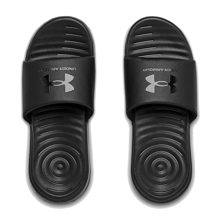 Under Armour Women's UA Ansa Fix SL Slide Sandal - Black/Black/Black