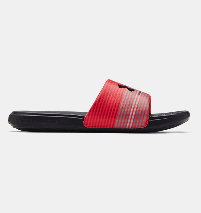 Under Armour Men's UA Ansa Graphic Slides - Black/Venom Red