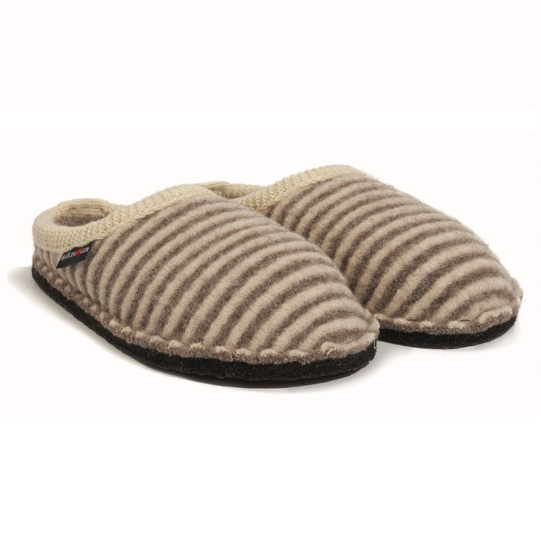 Haflinger Women's Cathy Boiled Wool Indoor Slipper - Tan/Natural