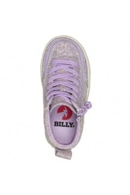 BILLY Footwear Toddler Classic Lace High - Lilac Lurex Canvas