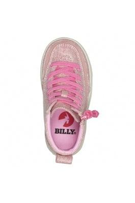 BILLY Footwear Toddler Classic Lace High - Heather Pink Lurex Canvas
