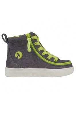 Toddler BILLY Footwear Classic Lace High - Charcoal/Acid Green
