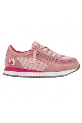 Kids BILLY Footwear Jogger Zipper Shoes - Pink/Pink