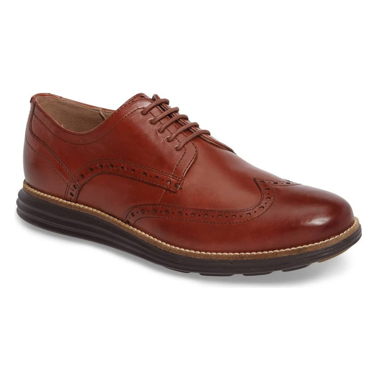 Men's Cole Haan Original Grand Wingtip Oxfords - Woodbury/Java
