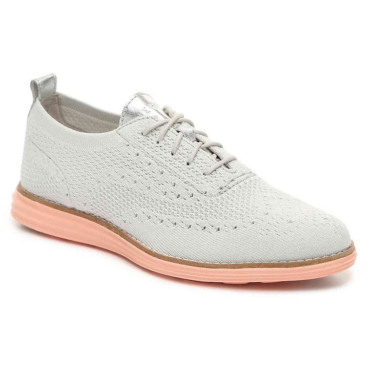 Women's Cole Haan Original Grand Stitchlite Wingtip Oxford - Grey/Peach