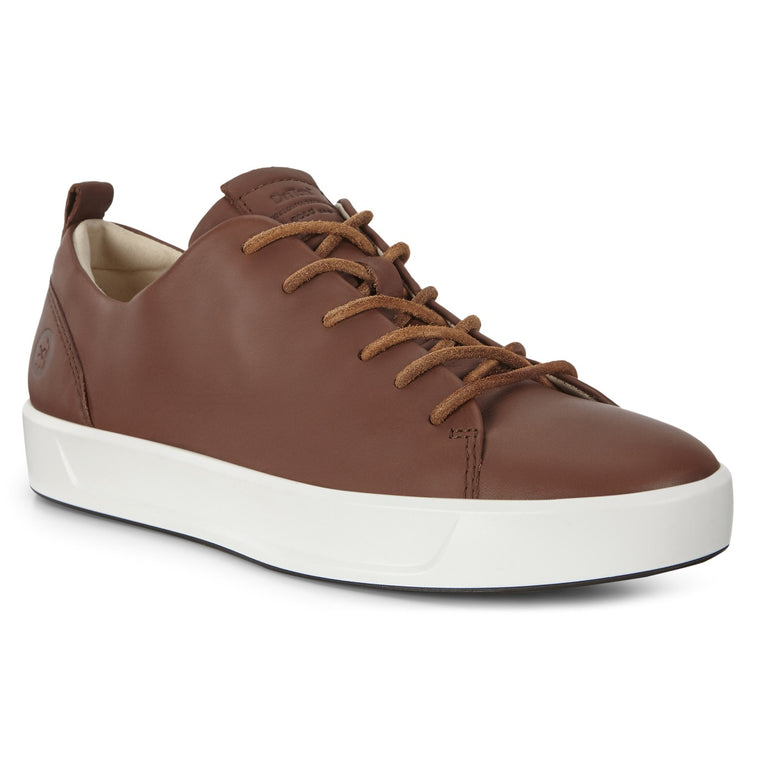 Men's Ecco Soft 8 Leather Sneaker - Cinnamon Celeste