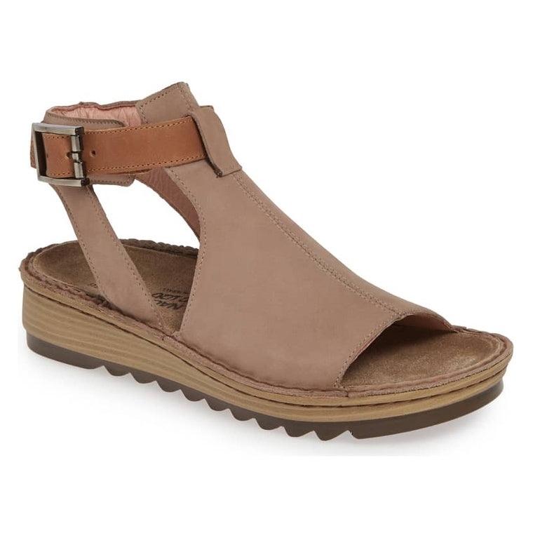 Women's Naot Verbena - Stone/Latte Brown Leather