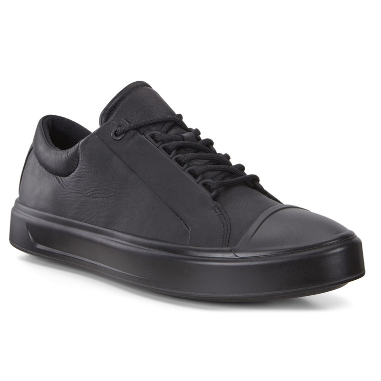 Men's Ecco Flexure T-Cap Low Lace-Up Shoes - Black