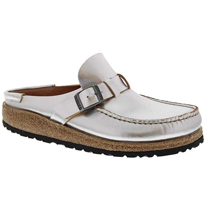 Women's Birkenstock Buckley Mule - Silver Leather