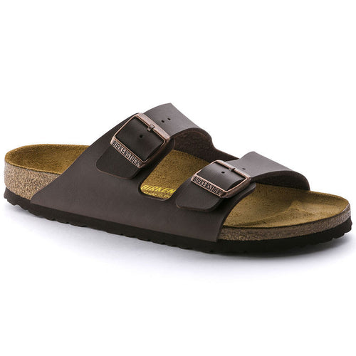 Unisex Arizona Slide Sandal - Dark Brown Birko-Flor
