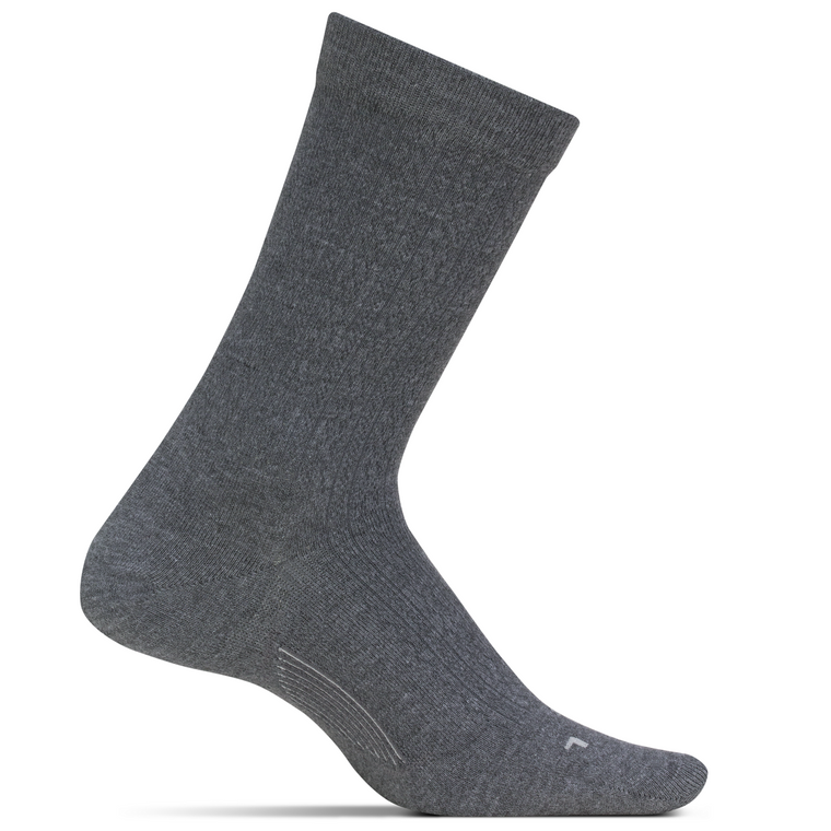 Feetures Women's Texture Ultra Light Crew Socks - Grey