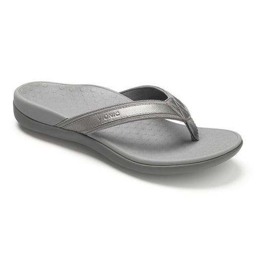 Women's Tide II Toe Post Sandal - Pewter Metallic