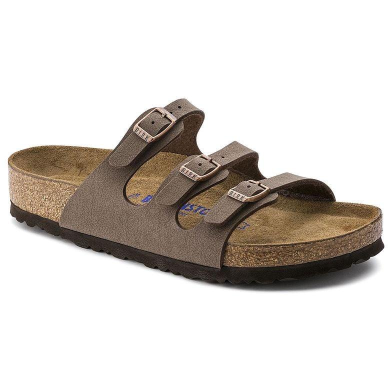 Women's Florida Soft Footbed Sandal - Mocha Birkibuc