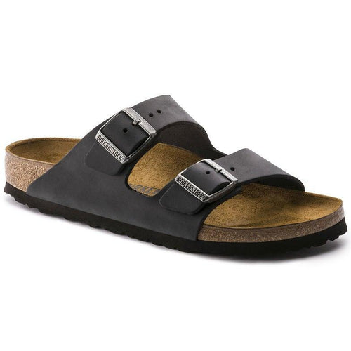 Arizona Unisex Sandal - Black Oiled Leather