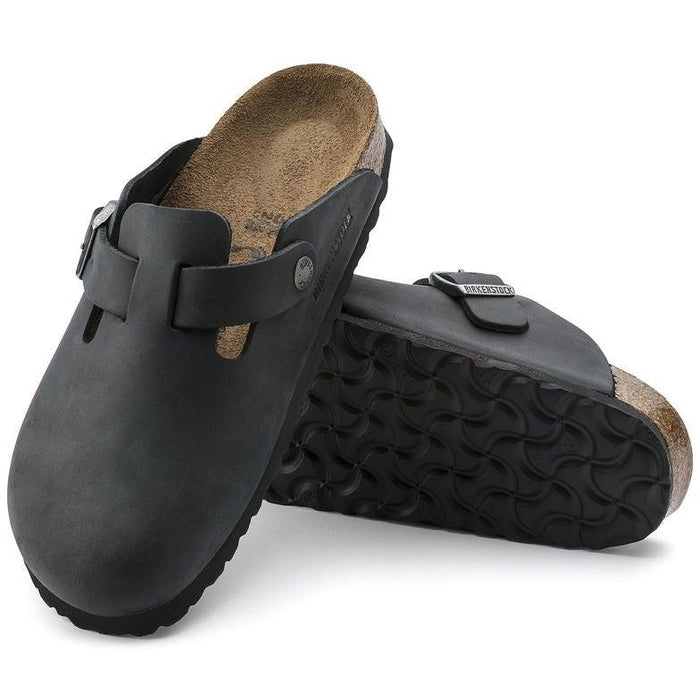 Birkenstock Boston Leather Clog - Black