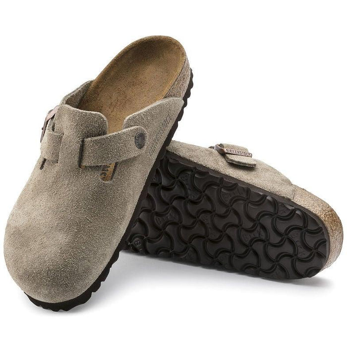 Birkenstock Boston Suede Clogs - Taupe