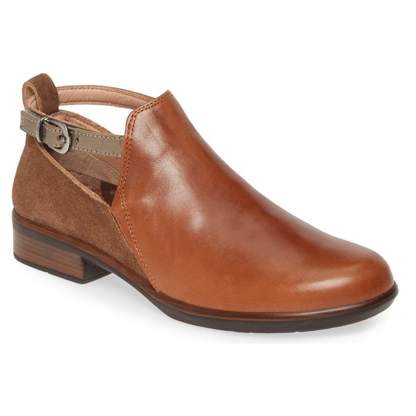 Women's Naot Kamsin Colorblock Bootie - Maple/Antique Brown/Pewter