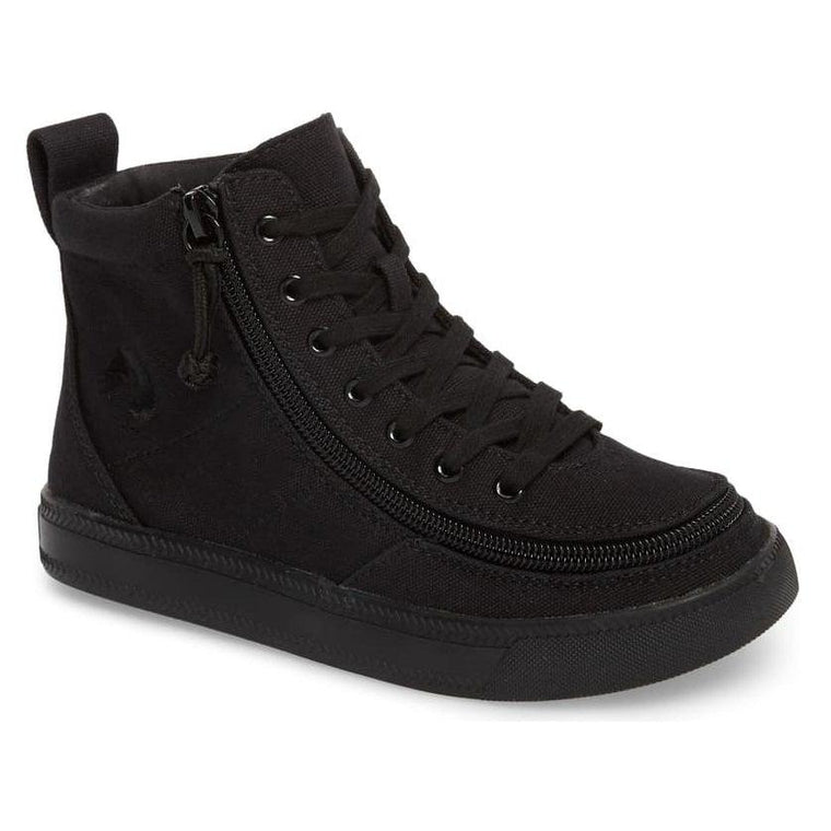 Kids' BILLY Footwear Classic Lace Zip High Top - Black To The Floor