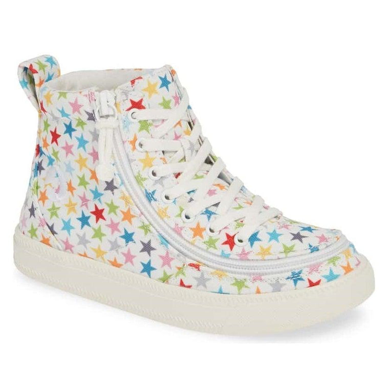 Kids' BILLY Footwear Classic Lace Zip High Top - Stars Canvas