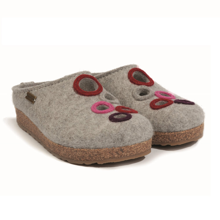 Women's Haflinger Bubble Boiled Wool Clog - Silver/Grey
