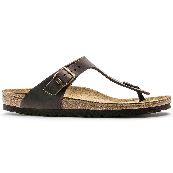 Women's Birkenstock Gizeh Thong - Habana Oiled Leather