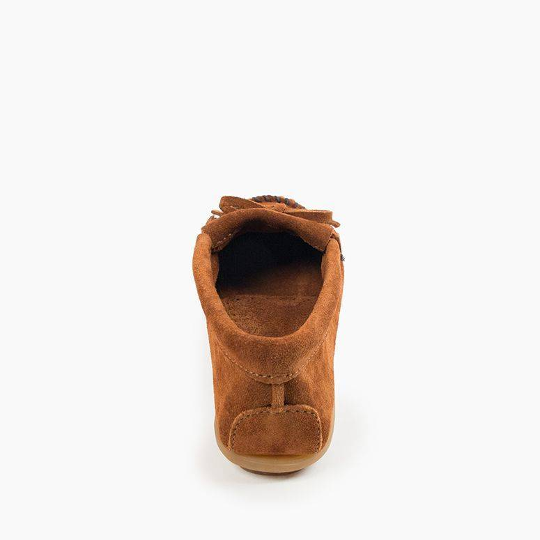 Women's Minnetonka Kilty Hardsole Moc Slipper - Brown